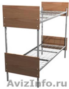 Кровати со спинками ДСП, кровати для строителей, кровати железные, кровати оптом - Изображение #4, Объявление #651167