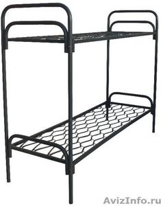 Кровати металлические для казарм, кровати двухъярусные для студентов - Изображение #4, Объявление #1478848