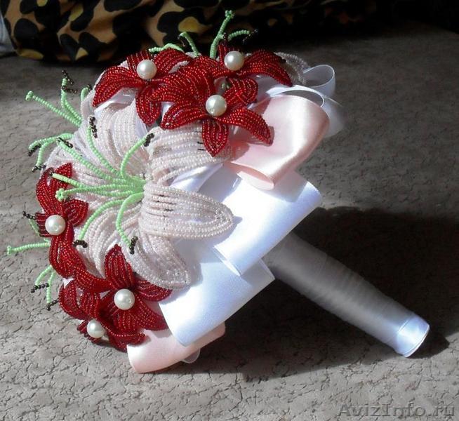 Свадебный букет невесты из бисера мастер класс с пошаговым